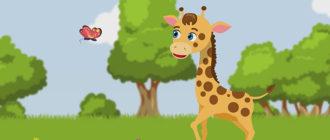 Иллюстрация к песне и мультику про жирафа