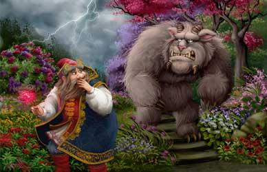 Картинка к сказке Аленький цветочек Сергее Аксакова