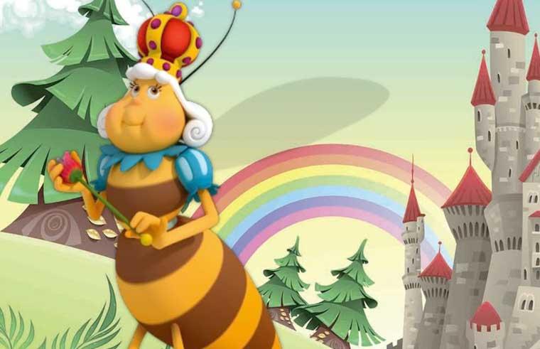 Иллюстрация к сказке Царица пчел братьев Гримм