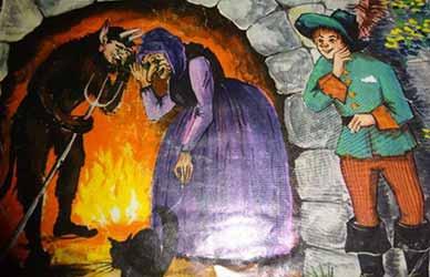 Картинка к сказке Черт и его бабушка