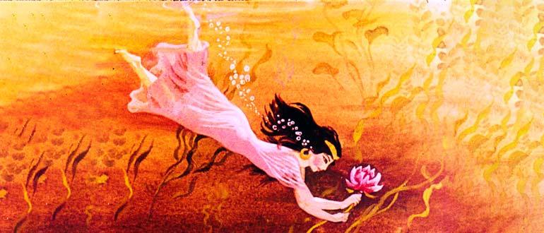 """Картинка к сказке Г. Х. Андерсена """"Дочь болотного царя"""""""