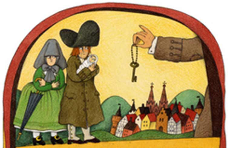 Иллюстрация к сказке Братьев Гримм про Ференанда