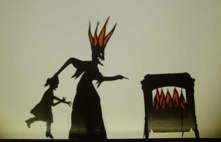 Иллюстрация к сказке братьев Гримм Фрау Труда