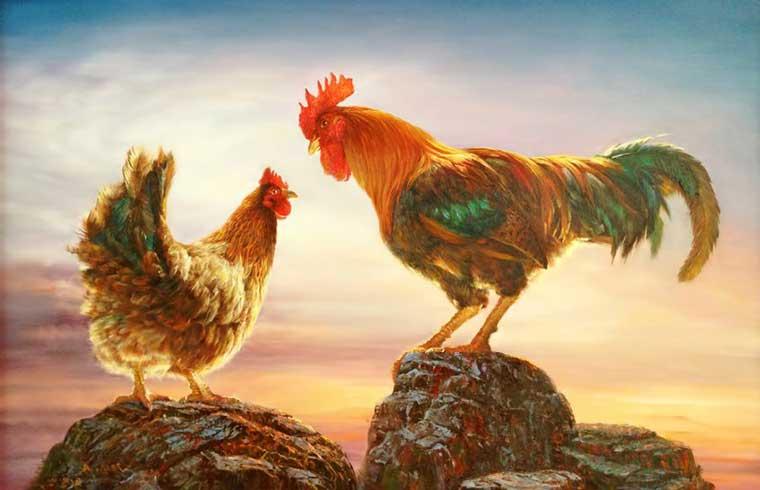 Иллюстрация к сказке братьев Гримм Хлебные крошки на столе