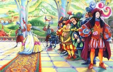 Картинка к сказке братьев Гримм Король Дроздобород