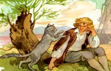 """Иллюстрация к сказке Шарля Перро """"Кот в сапогах"""""""