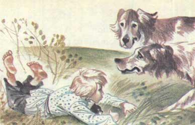 Картинка к сказке Льва Толстого Котенок