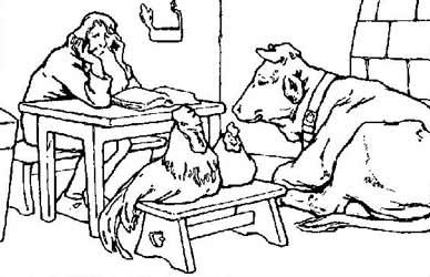 Картинка к сказке Гримм Лесная избушка