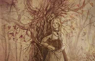 Картинка к сказке Гримм Лесная старуха