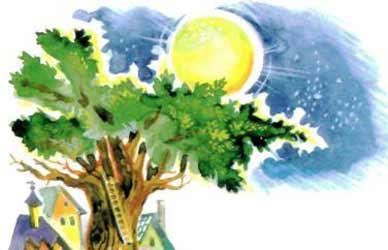 Картинка к сказке Гримм Луна