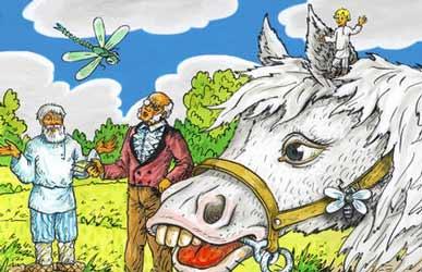 Иллюстрация к сказке Гримм Мальчик с пальчик