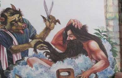 Картинка к сказке Гримм Медвежатник или Медвежья шкура