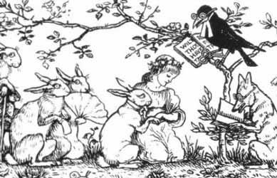 Картинка к сказке Гримм Невеста зайчика
