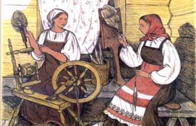 Иллюстрация к сказке Гримм Очески