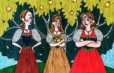 Иллюстрация к сказке Гримм Одноглазка, Двуглазка, Трехглазка