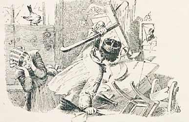 Иллюстрация к сказке Гримм Пес и воробей