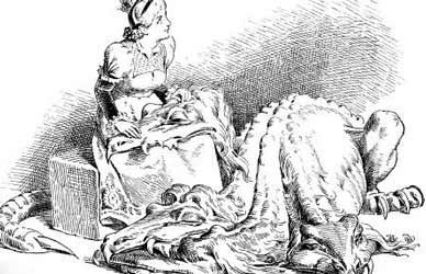 Иллюстрация к скзаке Гримм Подземный человечек