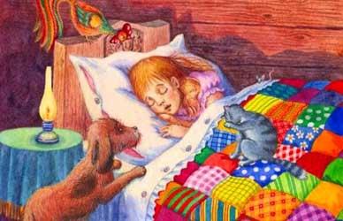 Картинка к сказке Пора спать Мамина-Сибиряка