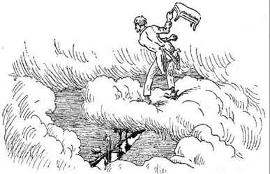 Иллюстрация к сказке Гримм Портной в раю
