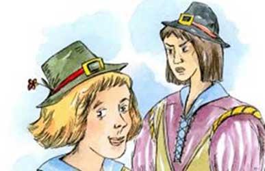 Иллюстрация к сказке Гримм Поющая косточка