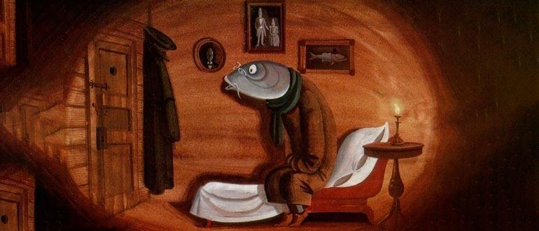 Картинка к сказке М. Е. Салтыкова-Щедрина Премудрый Пискарь