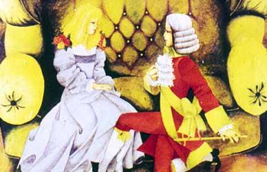 Иллюстрация к сказке Гримм Принцесса Мышиная шкурка