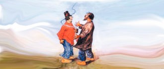 "Картинка к сказке М. Е. Салтыкова-Щедрина ""Путем дорогою"""