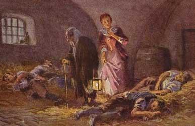 Иллюстрация к сказке Гримм Разбойник-жених