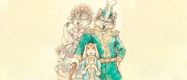 """Картинка к сказке М. Е. Салтыкова-Щедрина """"Самоотверженный заяц"""""""