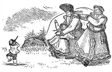 Картинка к алтайской сказке Счастливый Ристу