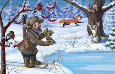 Картинка к сказке Серая шейка Мамина-Сибиряка