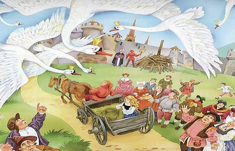 """Иллюстрация к сказке """"Шесть лебедей"""" братьев Гримм"""