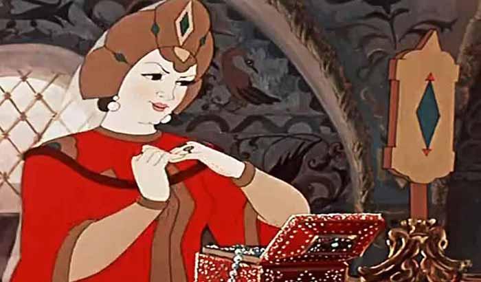 Изображение к сказке о мертвой царевне и семи богатырях