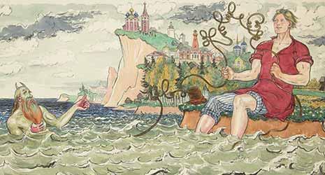 Картинка к сказе о попе и его работнике Балде