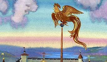 Иллюстрация к сказке о золотом петушке