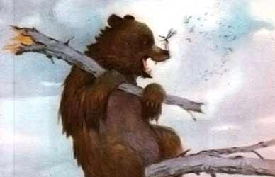 Картинка к сказке Мамина-Сибиряка Про Комара Комаровича длинный нос и про мохнатого мишу короткий хвост