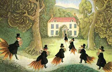 Иллюстрация к сказке братьев Гримм Свадьба госпожи лисоньки