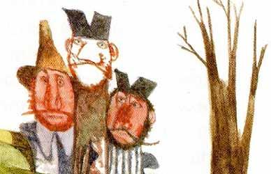 Иллюстрация к сказке братьев Гримм Три лентяя