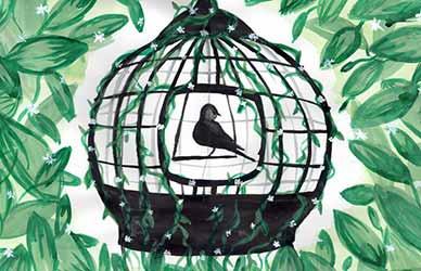 Иллюстрация к сказке братьев Гримм Три птички
