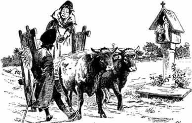 Картинка к сказке братьев Гримм Умные люди
