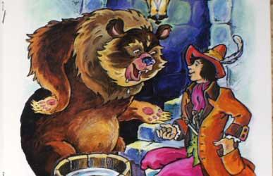 Иллюстрация к сказке Гримм Умный портняжка