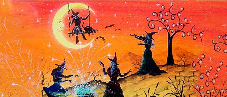 """Картинка к украинской сказке """"Ведьмы на Лысой горе"""""""