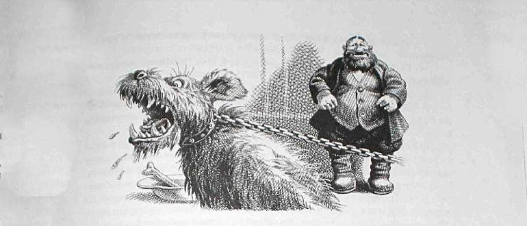 """Картинка к сказке М. Е. Салтыкова-Щедина """"Верный Трезор"""""""